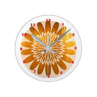 金ヒマワリの芸術の装飾 ラウンド壁時計