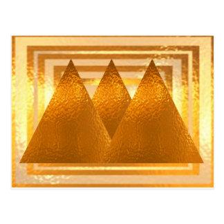 金ピラミッド はがき
