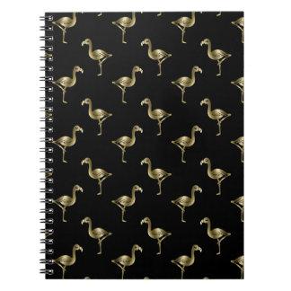金フラミンゴ ノートブック