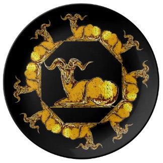 金フリースの装飾的な芸術のプレート 磁器プレート