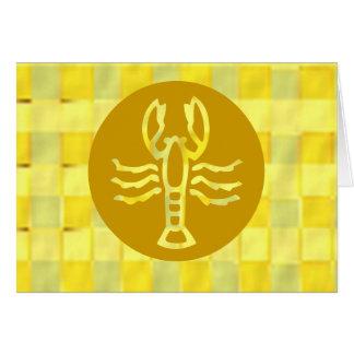 金フレームの(占星術の)十二宮図の記号 カード
