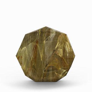 金ブラウンのフラクタルの背景賞 表彰盾