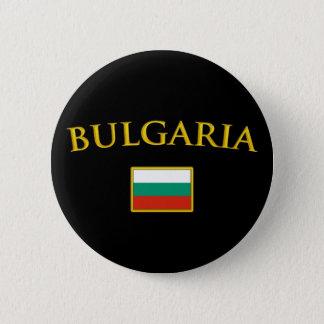金ブルガリア 5.7CM 丸型バッジ