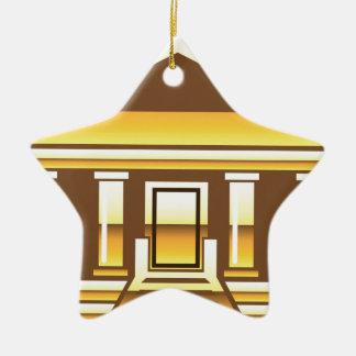 金ベクトルを造っている博物館銀行政府 セラミックオーナメント