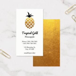 金ホイルの写真のパイナップル 名刺