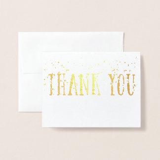 金ホイルの高いブロックはあなたおよびスパンコールを感謝していしています 箔カード