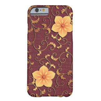 金ホタルブクロのアラベスク BARELY THERE iPhone 6 ケース