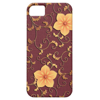 金ホタルブクロのアラベスク iPhone SE/5/5s ケース