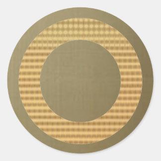 金ボーダーギフトの鑑定器-金ゴールドの膚触りがよい緑 ラウンドシール
