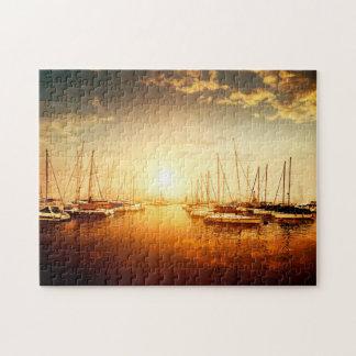 金マリーナの日没のパズル ジグソーパズル