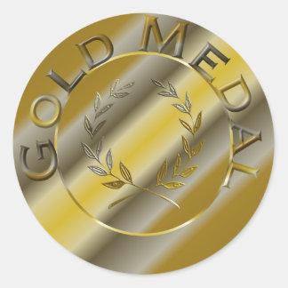 金メダル ラウンドシール