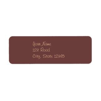 金モモのヴィンテージチョコレート渦巻 ラベル