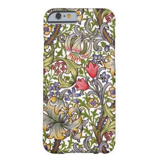 金ユリのヴィンテージの花パターンウィリアム・モリス BARELY THERE iPhone 6 ケース