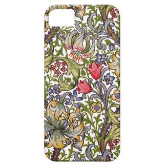 金ユリのヴィンテージの花パターンウィリアム・モリス iPhone SE/5/5s ケース