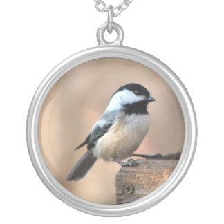 金ライトの《鳥》アメリカゴガラ シルバープレートネックレス