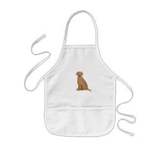 金ラブラドル・レトリーバー犬の幼児のエプロン 子供用エプロン