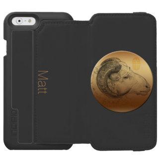金ラムか牡羊座-中国語 + 西部のAstrolgy 2 Incipio Watson™ iPhone 5 財布型ケース
