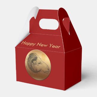 金ラムの中国のな月の新年の(占星術の)十二宮図F箱 フェイバーボックス