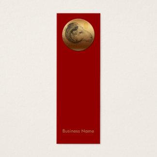 金ラムの旧正月の(占星術の)十二宮図Bカード スキニー名刺