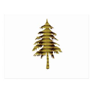 金ヴィンテージのスタイルの木; 中国のな低価格のギフト ポストカード