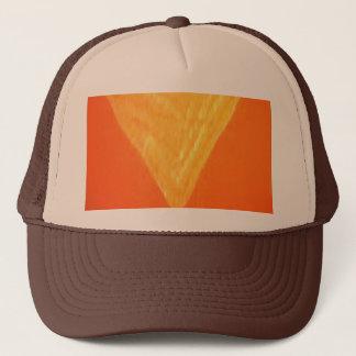 金三角形: 東洋のお祝いの絹のプリント キャップ