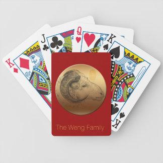 金中国のなラム年の名前入りな遊ぶカード バイスクルトランプ
