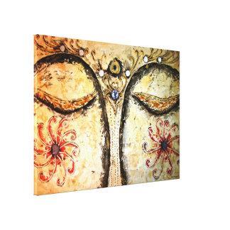 金仏の目の水彩画のキャンバスのプリント28x20 キャンバスプリント
