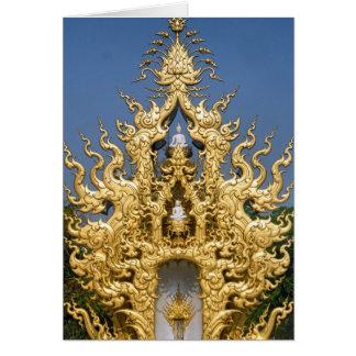 金仏教記念碑、白い寺院、タイ カード