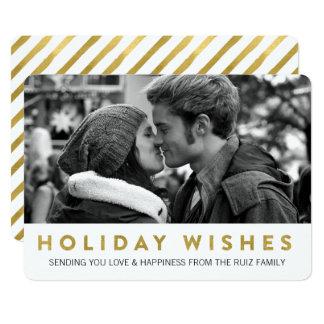 金休日は|にモダンな休日の写真カードを望みます カード