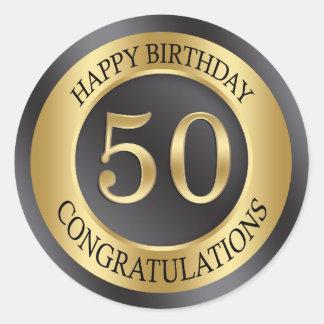 金効果の第50誕生日 ラウンドシール