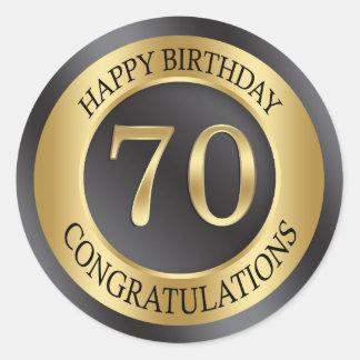 金効果の第70誕生日 ラウンドシール
