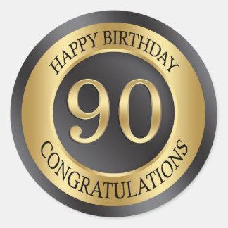 金効果の第90誕生日 ラウンドシール