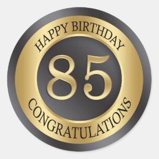 金効果の85th誕生日 ラウンドシール