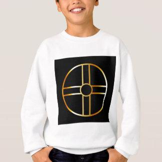 金南嵩拝の太陽のな十字の記号 スウェットシャツ