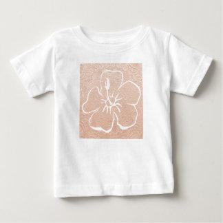 金基盤が付いている花 ベビーTシャツ