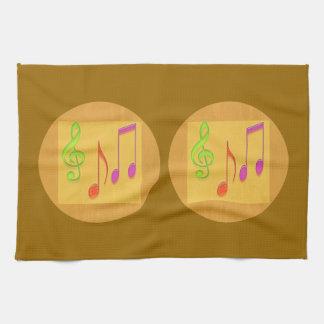 金基礎ダンス音楽の記号 キッチンタオル