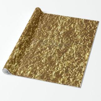 金塊の写真によって印刷される包装紙 ラッピングペーパー