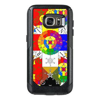 金夜明けのばら色の十字のLamenの場合のスタイルB オッターボックスSamsung Galaxy S7ケース
