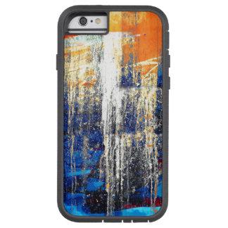金夜明け、抽象美術、グランジで素朴な青 TOUGH XTREME iPhone 6 ケース