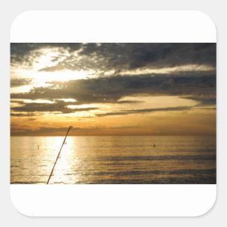 金太平洋の日没 スクエアシール