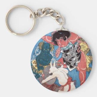 金太郎と動物、国芳Kintaro及び動物、Kuniyoshi、Ukiyo-e キーホルダー