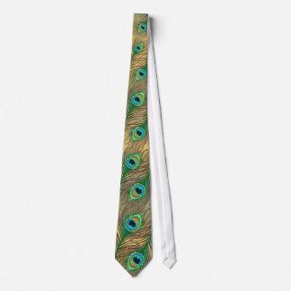 金孔雀は汚いタイに羽をつけます ネクタイ