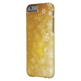 金季節的な休日/クリスマスの雪片 BARELY THERE iPhone 6 ケース