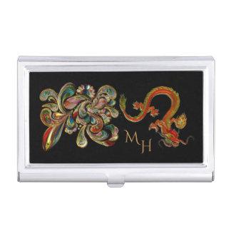金属で処理された華美で中国のなドラゴンの芸術 名刺入れ