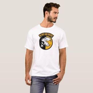 金属のギアの固体- FrontièresのロゴSans Militaires Tシャツ