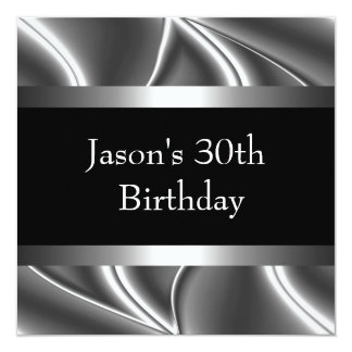 金属のクロム白黒のスタイルの銀メンズ第30 カード