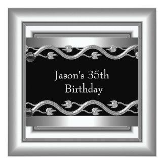 金属のクロム白黒のスタイルの銀メンズ第35 5 カード