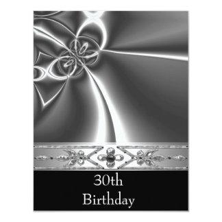金属のクロム白黒のスタイルの銀第30 カード