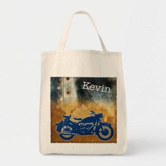 金属のバイク トートバッグ