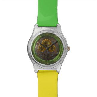 金属のヒマワリ 腕時計